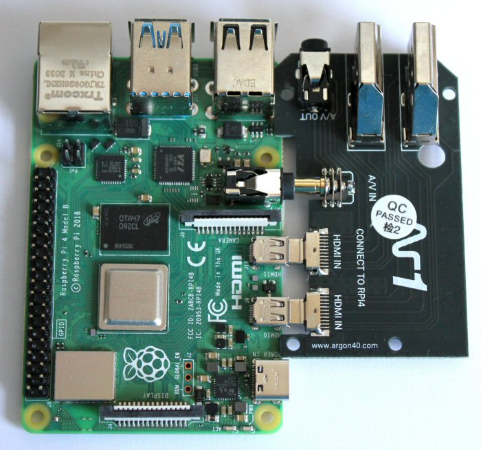 Joining the two components together - Raspberry Pi with the Argon One HDMI daughterboard