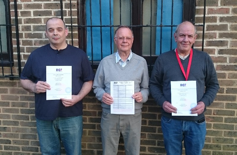Many Congratulations to Dennis, David and Adrian